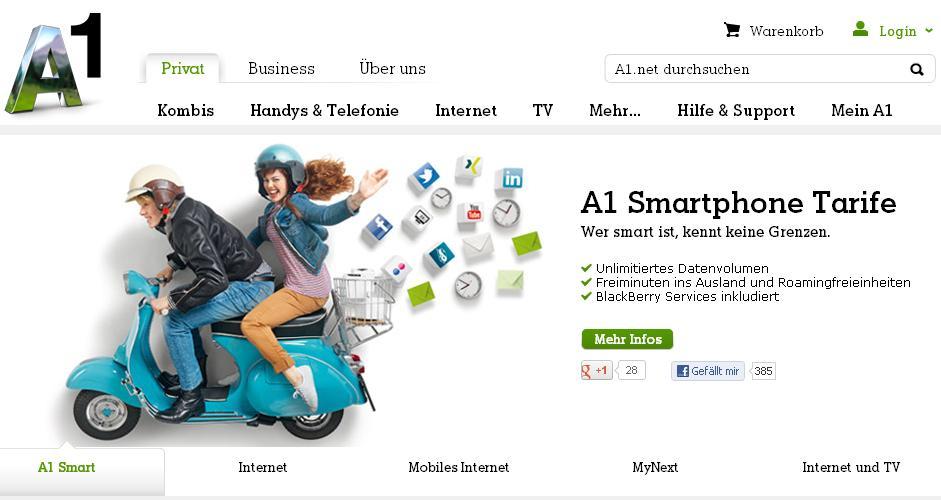 A1 bietet jetzt neue Tarife für Telefonie und mobiles Breitbandinternet